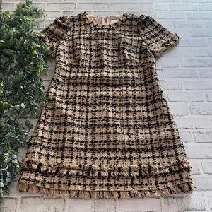 "Kate Spade ""Heart It"" Bi-Color Tweed Dress"